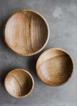 Piring kayu, Alat Makan Kayu Jati