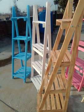 wood plant stand /wooden ladder