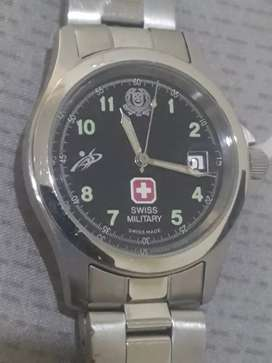 Jam Tangan Swiss Military Quartz Original Swiss Made eks jam Tentara