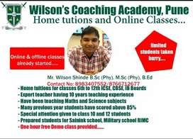 Home tuition and online classes 6th to 12th ALL BOARD, NDA, CDSE,AFCAT