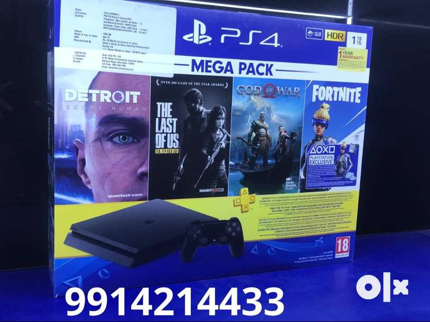 ps4 1 tb with 10 games 26990 EASY EMI AVailable 0