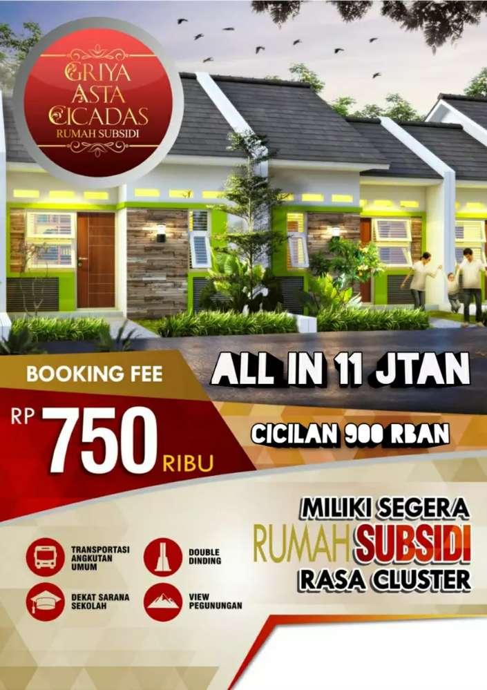 rumah subsidi bogor all in 11jtan di griya asta cicadas cicilan 900rb