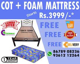 Wholesale Price Steel Cot Get mattress Bed Single Double