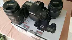 Canon 90 full box with 55-250 lens only 7month used