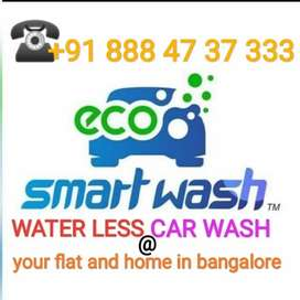 Water less car wash at your flat&office