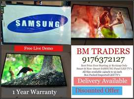 Mega Offer SAMSUNG LED PANEL TV's with Door Delivery & Warranty