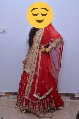 Bridal lehanga by J.J boutique in excellent condition