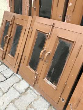 Wooden windows and grill frame