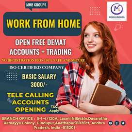 Work from home Wanted telecallers for recruiting employees