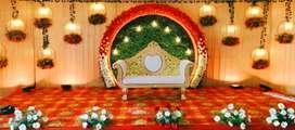 Marriage backdrop decoration