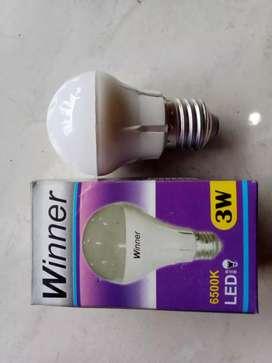 Lampu winner 3watt. LAMPU LED Lebih hemat 50% (jantung acc)