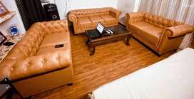New 7 seater sofa set in leather