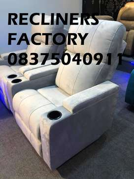 RECLINERS in very smooth and velvet type fabrics for best comfort..