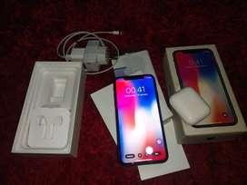 iphone X 64gb grey + air pods gen 1 ori