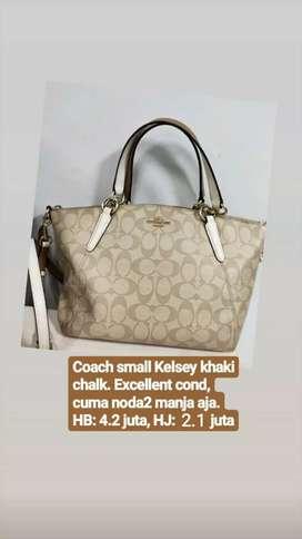 Coach Small Kelsey Khaki Chalk