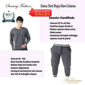 AM00229 Celana Setelan Satu set Sweater dan celana jogger