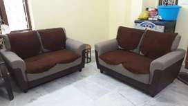 Sofa set of 2(4seats) Just 1y7m old brand @home used only for 7months
