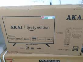 AKAI 43 inch smart Android Alexa Ready voice control remote LED TV 3yw