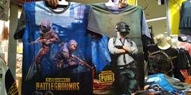 Kaos game free fire PUBG dewasa size S M