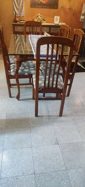 Dinning table with six chairs