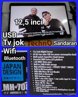 12,5 inci Headrest Jok tv sandaran USB Bluetooth mirrorlink internet