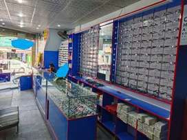 Running Optical shop . Glasses