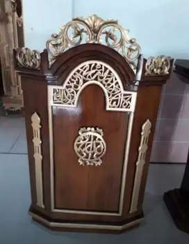 mimbar masjid bahan jati berkualitas