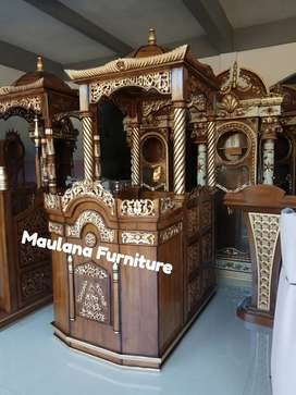 Mimbar podium masjid pintu samping
