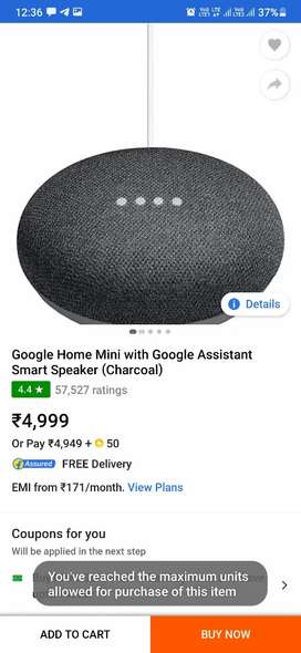Google home mini charcoal 1200 fixed