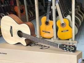 Gitar akustik import orlin body concert