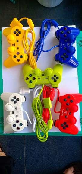 joystick stik stick PS 2 PS2 Original Pabrik hitam kabel serat