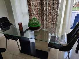 Queen Size bed, Nilkamal Weekender Chair,Nilkamal 6Seater Dining Table