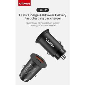 Vivan Car Charger 30W Dual Port QC 4.0 Power Delivery with USB (CCT2)