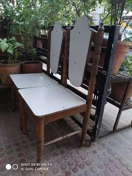 Dinning Table and 2 shetty (small single Beds)