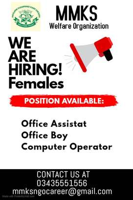 female computer operator / female office assistant