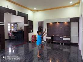 A brand new very spacious 2 bhk house with a big hall and dining space