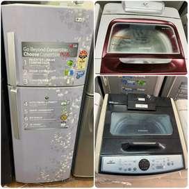@ 9500 Double door fridge and Fully automatic washing machine warranty