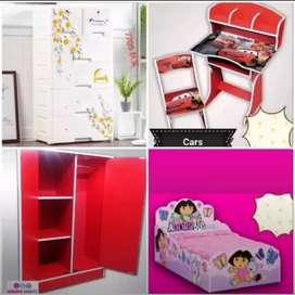 Baby/Kid Bed Wardrobes and Study Table