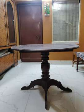 SOLD WOOD 4 SEATER DINING TABLE