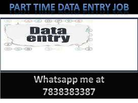 Simple DATA ENTRY work Part time HOME BASE job join now.