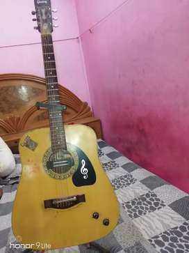 Givson gitar with stand