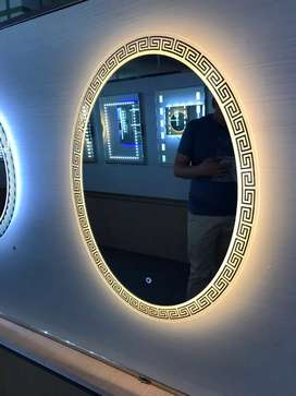 Bathroom Vanity Mirror/Touch Mirror with Led lights/ fancy lookg Glass