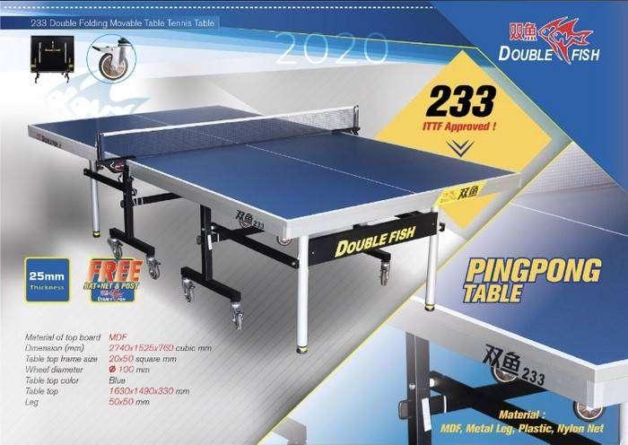 Meja Pingpong Tenis Meja Double Fish 233 Import Original