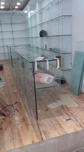 12mm toughened glass 135 square feet new glass work