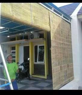 Tirai bambu asli