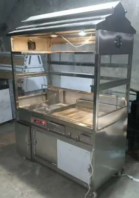 Counter with Deep fryer 16ltr and Hot palte