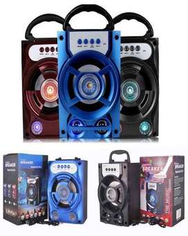 Portable Bluetooth Rechargeable Speaker with SD Card + FM Radio + USB
