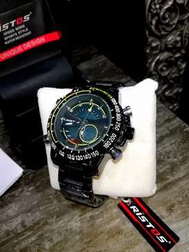 100% Genuine Ristos Dual Time Display Watches