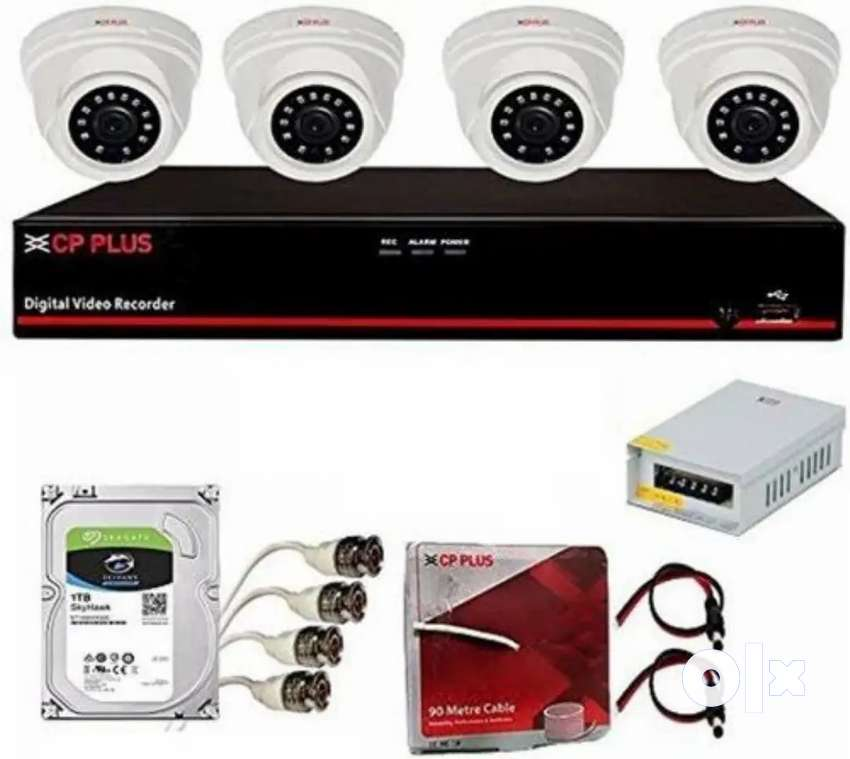 CP PLUS CC TV SYSTEM SET NEW 2YEARS WARRANTY