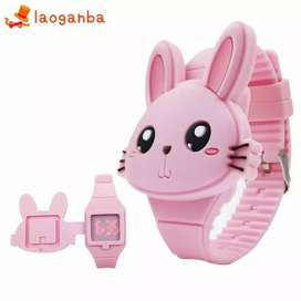 Jam Tangan LED Anak Bunny Rabbit Kelinci Lucu Model Baru